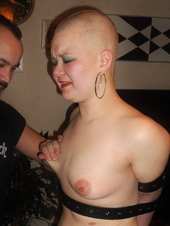 Squirts are shaved slave girl love her