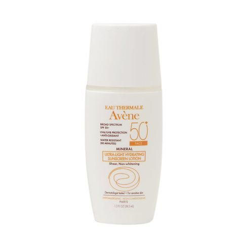 The Best New Chemical and Mineral Sunscreens for Summer–Avène Mineral Ultra-Light Hydrating Sunscreen Lotion