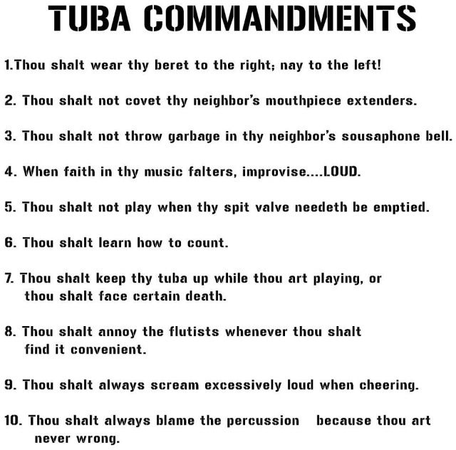 Tuba commandments