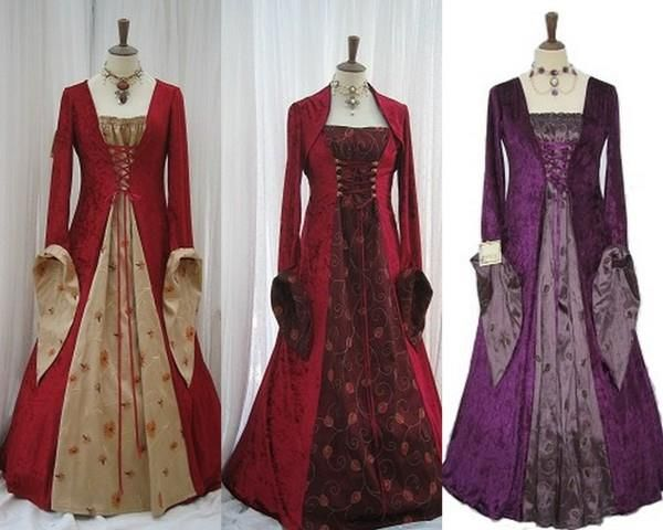 Женское платье в средневековом стиле своими руками