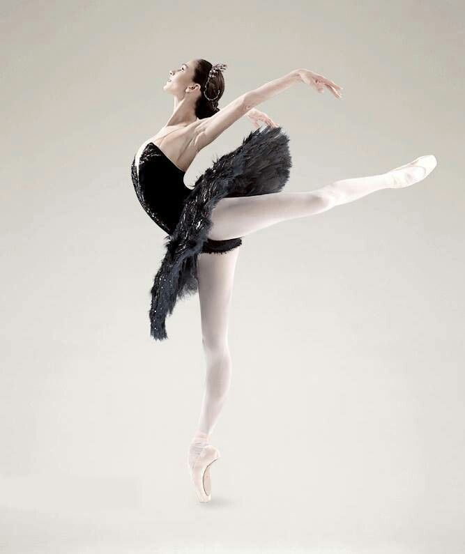 She seems like Odile in the Swan Lake