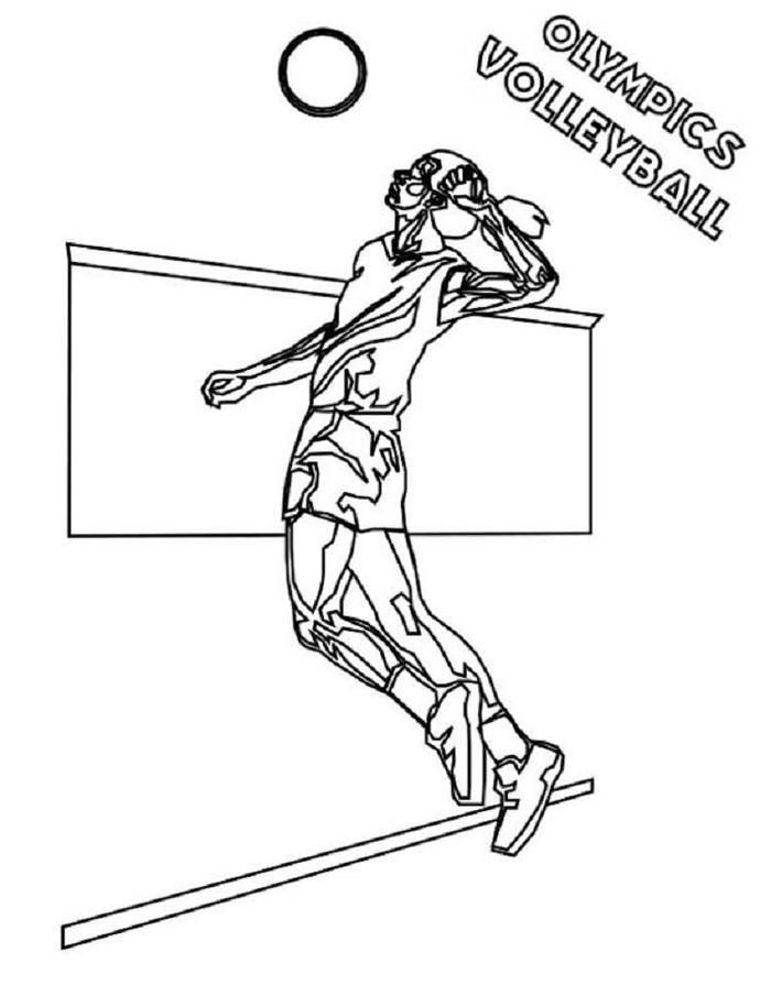 Olympics Volleyball Coloring Pages Sports Coloring Pages Coloring Pages To Print Summer Coloring Pages