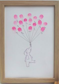 Have the thumbprints of the babies grandparents, aunts, and uncles. With a Giraffe holding the string.