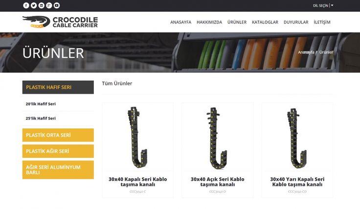 Crocodile Cable Carrier Kontrol Panelli Web Sitesi 2 - Silüet Tanıtım Web Tasarım