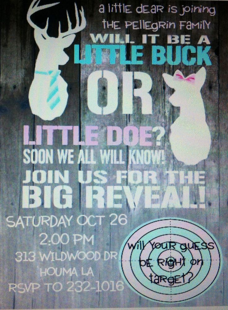 My Gender Reveal Invitations I Made Little Buck Or Little