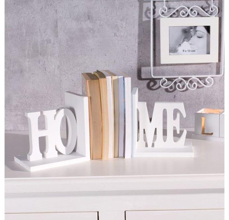 #prezent #gift #mama #mother #celebration Podpórki na książki Home, komplet 2szt. białe