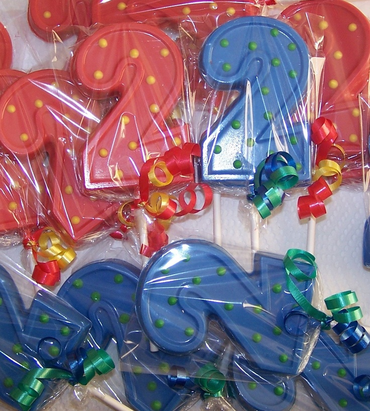 20 2 nd Birthday Number two   Chocolate Lollipop favors -20 free favor tags. $21.00, via Etsy.