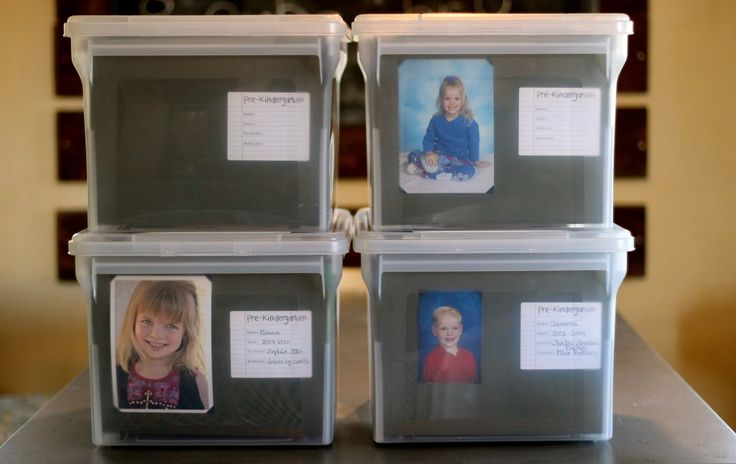 Lots of good ideas for storing kids' papers