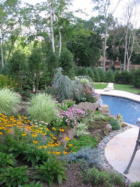 Pool Landscape Design New Jersey Pool Pool Landscaping Pool