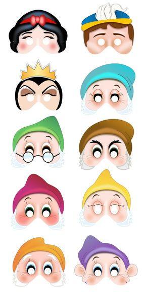 Mascaras Branca de Neve | Juliana Correia Monteiro | 38665C - Elo7