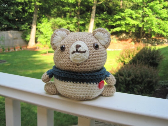 Crochet Bear Doll/Container