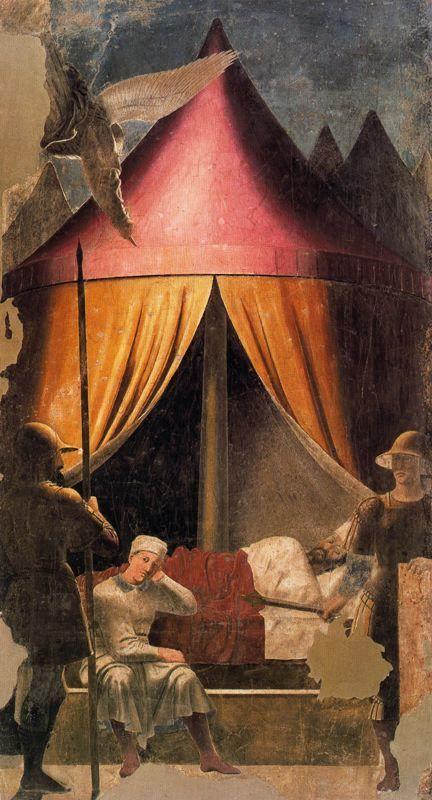 PIERO DELLA FRANCESCA Sueño de Constantino (1466) San Francesco, Arezzo.