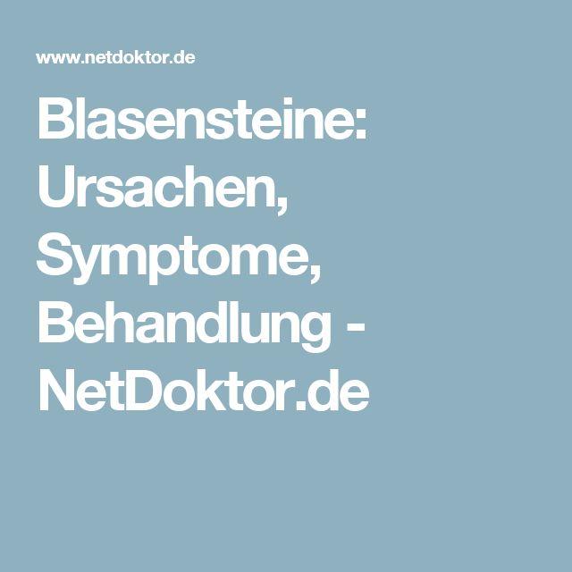 Blasensteine: Ursachen, Symptome, Behandlung - NetDoktor.de