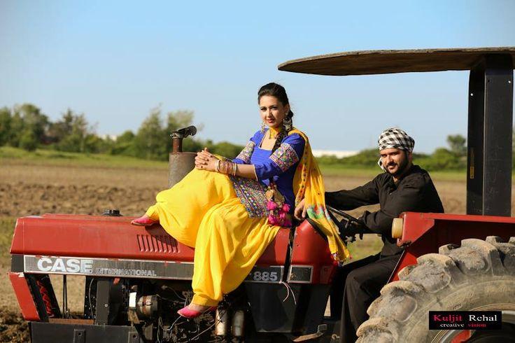 Punjabi engagement photo shoot | Beautiful Things | Pinterest