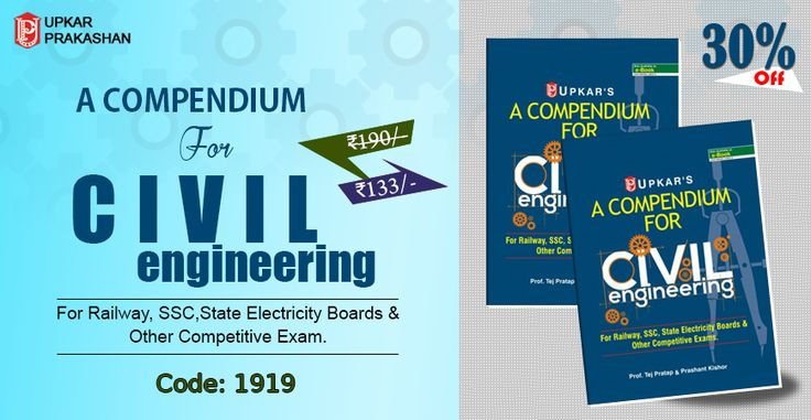 Buy A Compendium For #CIVIL #Engineering (For Railway, #SSC,State Electricity Boards & Other #Competitive Exam.) Books Online With 30% Off.
