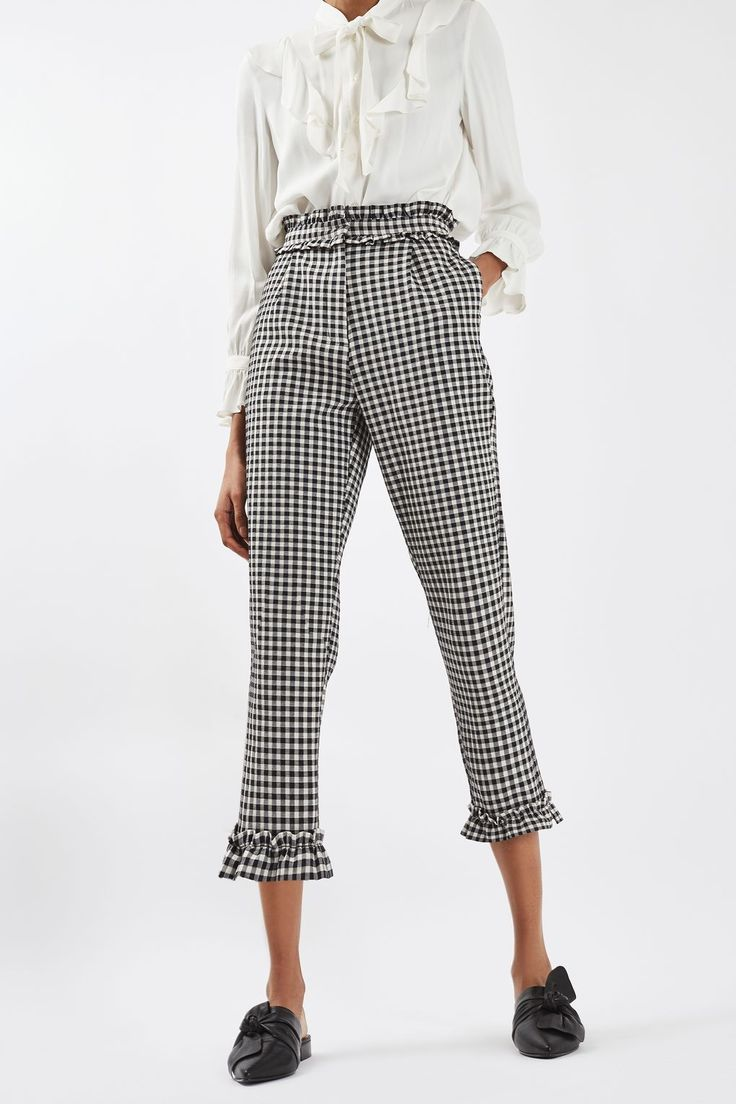 Gingham Frill Trousers - New In This Week - New In - Topshop Europe