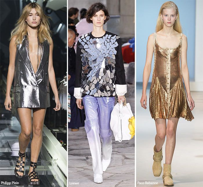 Spring/ Summer 2016 Fashion Trends: Metallic & Glittering Looks  #trends #fashiontrends