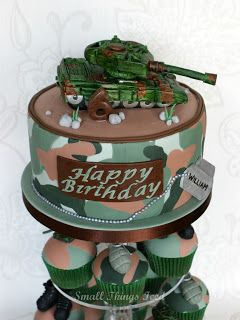 Army Cakes for Little Boys | Thank you for taking the time to look at my blog