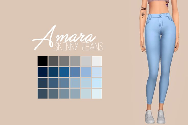 Amara Skinny JeansI de-flowered and made the jeans that came with the new pack skinny, hope you like 'em! Let me know if there are any problems. Before downloading, please take a moment to read my TOU - You can find it HERE! • Base Game Compatible •...