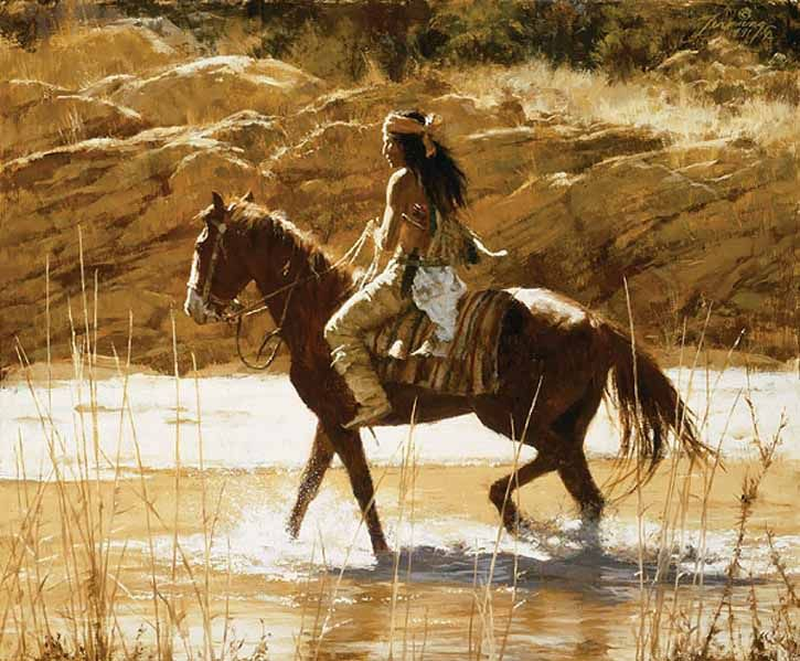 Howard Terpning -The Captain's Horse