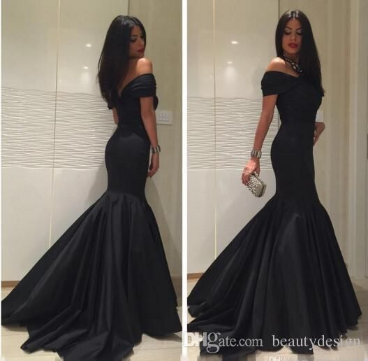 Elegant Off The Shoulder Mermaid Prom Dresses 2017 Backless Black Cheap Long Sweep Train Dress Evening Wear Formal Pageant Party Gowns Short Purple Prom Dresses Stunning Prom Dresses From Beautydesign, $116.19| Dhgate.Com