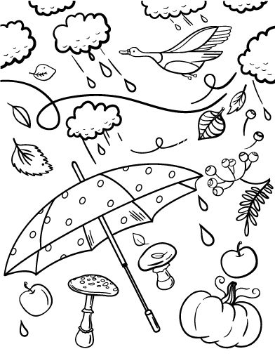 Printable Fall Coloring Page Free PDF Download At Coloringcafe