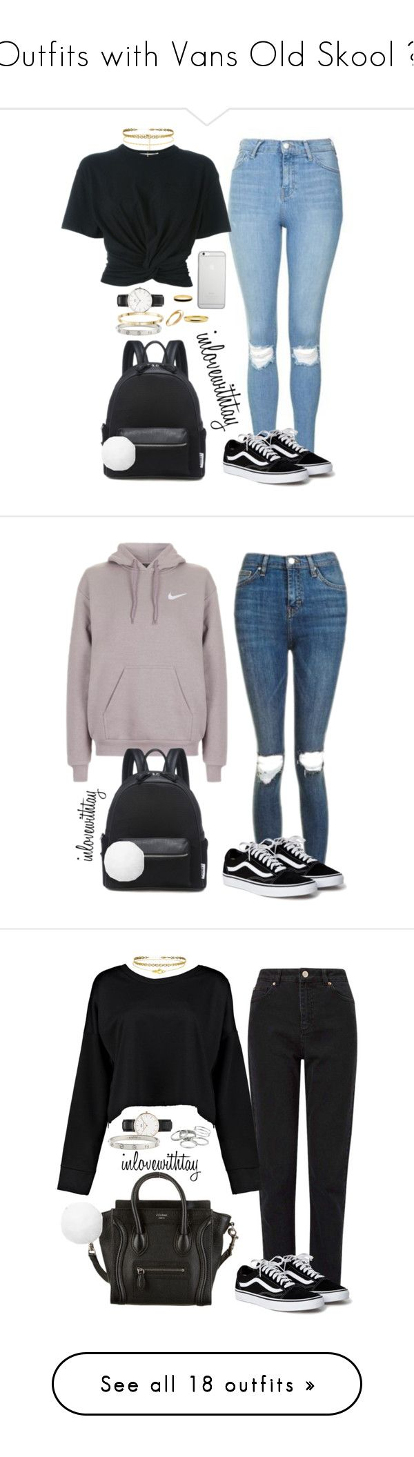 """""""Outfits with Vans Old Skool ❤"""" by inlovewithtay ❤ liked on Polyvore featuring Topshop, Lamoda, T By Alexander Wang, Michael Kors, Daniel Wellington, Cartier, Halcyon Days, Native Union, NIKE and Pink"""