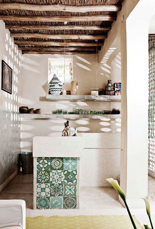 Loving this tile from good reads: heath's tile makes the room. / sfgirlbybay