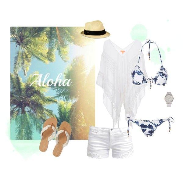 Beach by michellewl on Polyvore featuring Lipsy, ONLY, Vix, Aéropostale, Forever 21 and UGG Australia