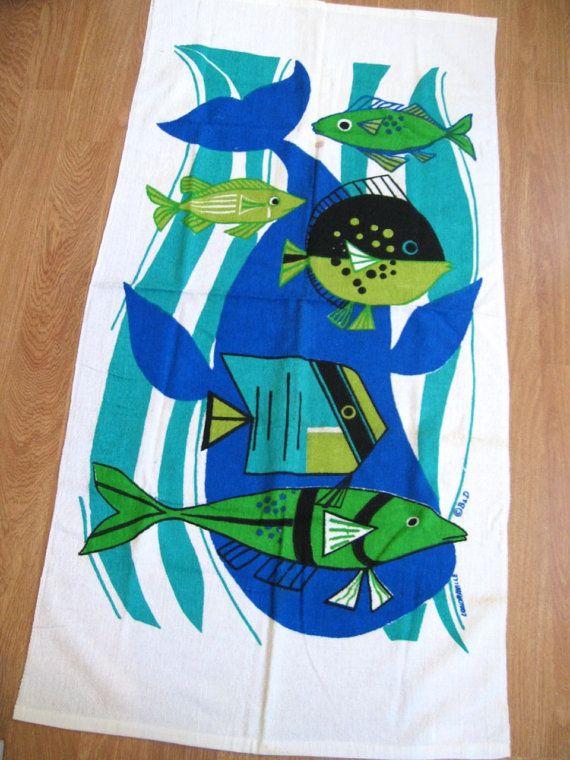 Whale of a time FAB beach bath terrycloth towel by fuzzandfu, $64.00