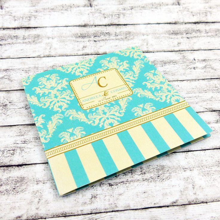 Invitaţie de nuntă Tiffany blue http://designbyclarice.ro/