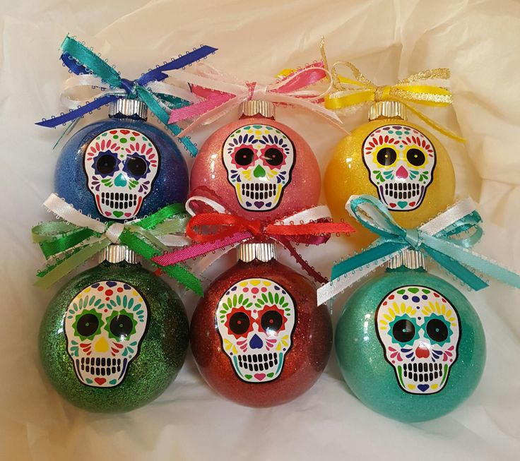 Sugar Skull, Christmas Ornaments, Day Of The Dead, Custom Ornament - My Sugar Skulls
