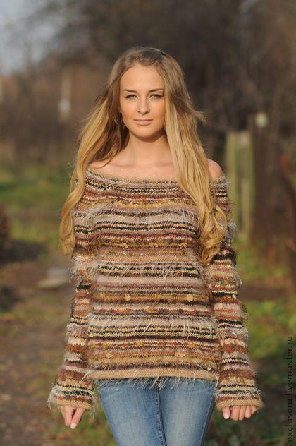 Джемпер``Натуральная блондинка``. Авторская ручная работа!  Теплый и нарядный  Мягкий и нежный  Очень приятная песочная гамма  Отличная посадка по…