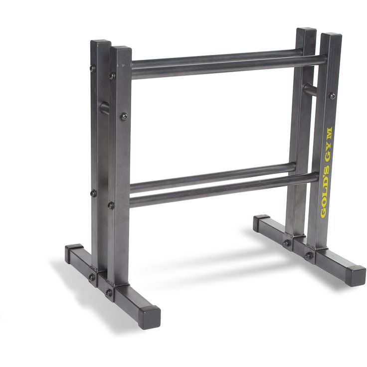 "Gold's Gym 24"" Utility Rack. Is Assembly Required Y Condition New Manufacturer Part Number RK-GG3DMK Color Black Model RK-GG3DMK Brand Gold's Gym Assembled Product Dimensions (L x W x H) 24.00 x 18.00 x 23.60 Inches."