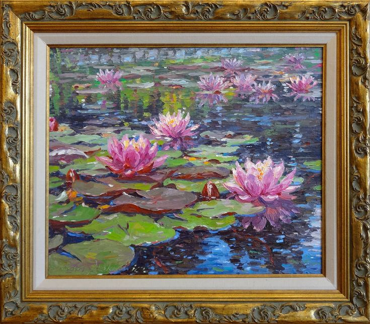 "Artist Barbara Jaśkiewicz,""Water Lilies"" 
