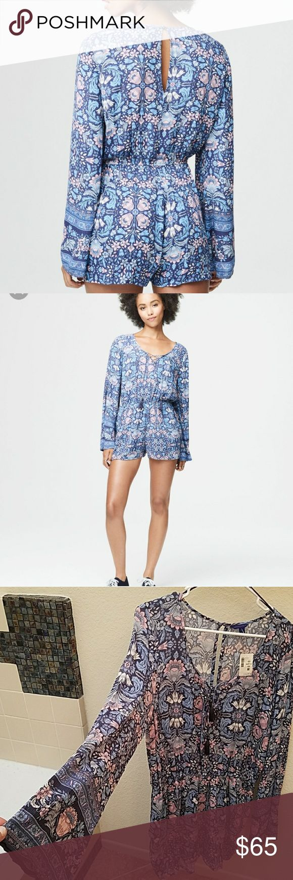 Aeropostale Romper Shorts with Long Flare Sleeves Purchased for a gift but never gave.  Purchased for $49.50 plus tax, plush posh commission. Trying to make my money back here.  Thanks for understanding. Style 3305 sku 99497115. Aeropostale Other