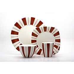 @Overstock - This 16-piece set exudes classic sophistication with elegant red and white stripes, lending an easy elegance to any holiday table. With service for four, this Red Vanilla tuxedo rouge dinnerware set will brighten your meals.http://www.overstock.com/Home-Garden/Red-Vanilla-Tuxedo-Rouge-16-piece-Dinnerware-Set/5283260/product.html?CID=214117 $93.99