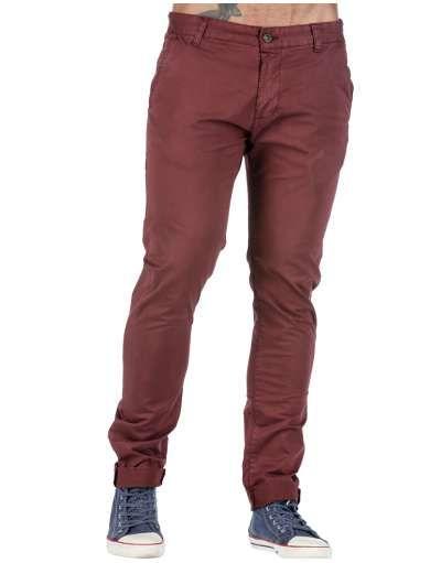 ΑΝΔΡΙΚΑ ΡΟΥΧΑ :: Παντελόνια :: Παντελονι Chino Slim Line Bordeaux - OEM