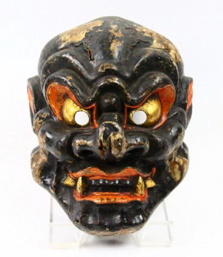Antique Japanese Oni Noh Theater Mask : Lot 0088