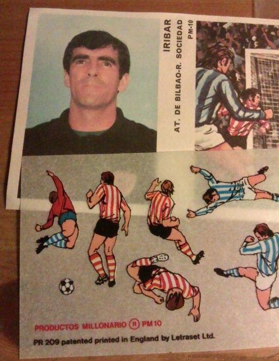 Cromo de Iríbar. Athletic Club de Bilbao. Temporada 1974-75. Fútbol en Acción. Editorial Transplantic.