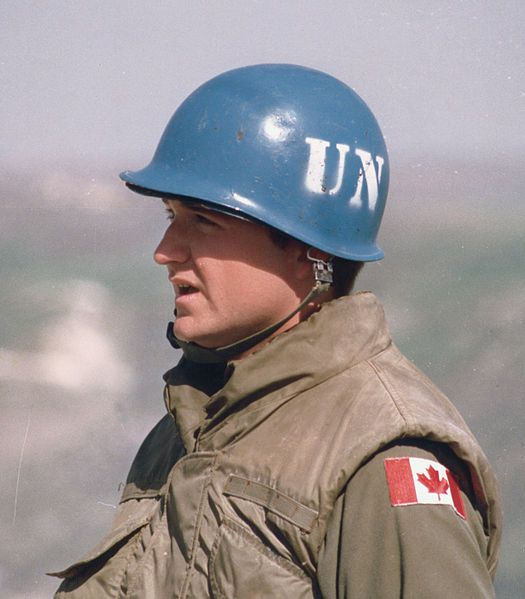 Canadian Soldiers serving on united nations peacekeeping Mission