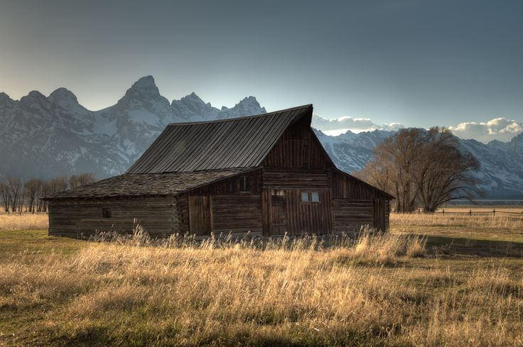 Sunset at the Mormon Row Barn in Wyoming's Grand Teton