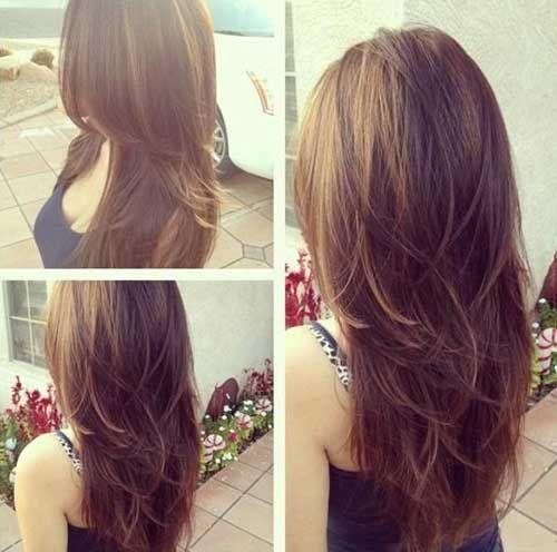 Choppy Layers Long Brown Hair
