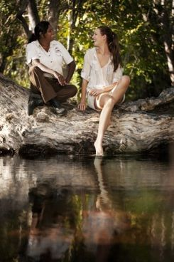 Managing Director and head guide, Tess Atie, in her office at Litchfield National Park
