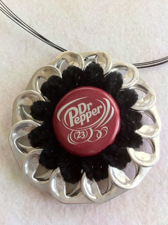 #Pop, Sip then Wear it! #PopTabs and #bottlecaps can make sweet #pendants!  #DIY #Trashthetic #Trash #Upcycle #Craft #Green