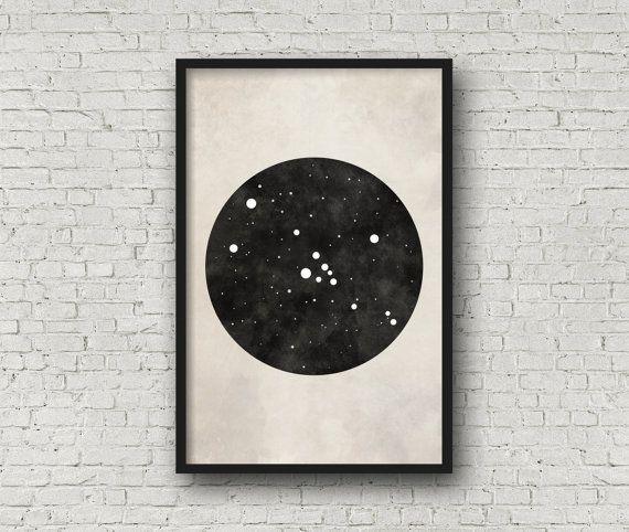 Stier sterrenbeeld Art, Art Print Poster, kunst aan de muur, Taurus kunst, Zodiac sterrenbeeld, Zodiac Sign, Zodiac kunst, Zodiac Print