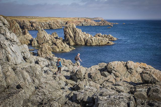Hiking The Coastline In The Dungeon Provincial Park in Bonavista by Newfoundland and Labrador Tourism, via Flickr
