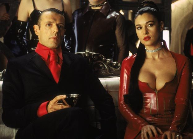 Merovingian, played by Lambert Wilson, and Persephone, played by Monica Bellucci. - See more at: http://www.matrixfans.net/interview-with-kym-barrett-costume-designer-part-4-from-the-matrix-reloaded-and-revolutions-2003/#sthash.mX3EwdCG.dpuf Interview with Kym Barrett (Costume Designer) – Part 4 – from The Matrix Reloaded and Revolutions (2003)