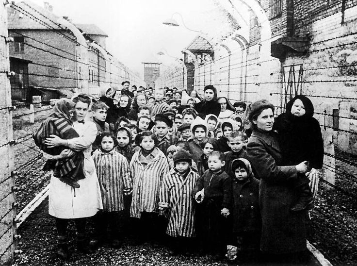 Children liberated from the Auschwitz concentration camp. January 1945.