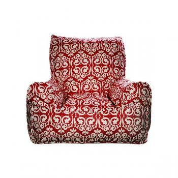 Bean Chair   Damask Red